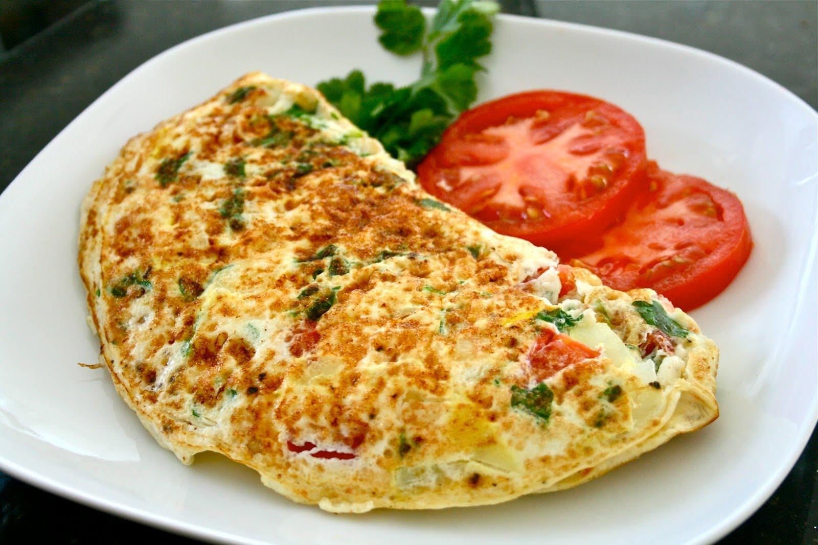 Receita de omelete de verdura